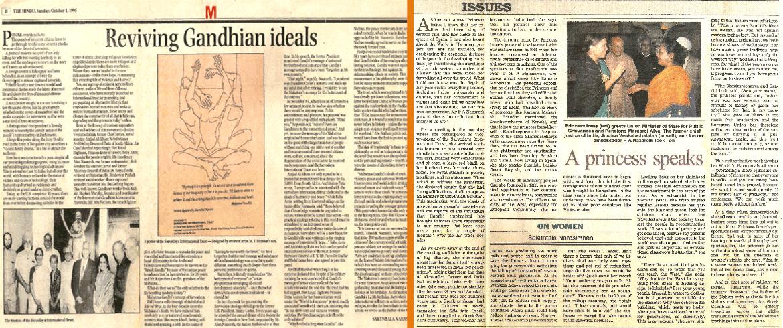 'Reviving Gandhian Ideals'